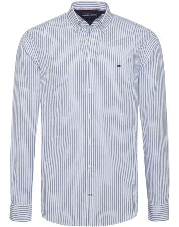 Tommy Hilfiger Hemd Jaspe Streifen Blau