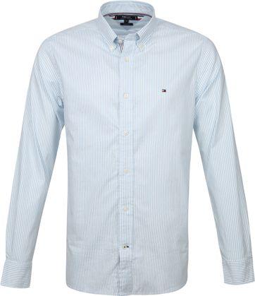 Tommy Hilfiger Hemd Streifen Blau Weiß