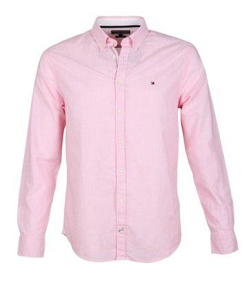 Tommy Hilfiger Hemd Streifen Rosa