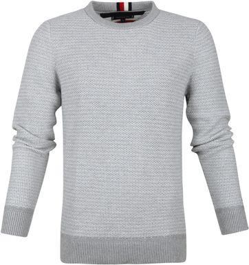 Tommy Hilfiger Honeycomb Slub Pullover Grey
