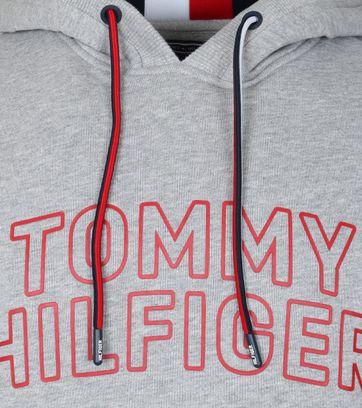 Detail Tommy Hilfiger Hoodie Grau