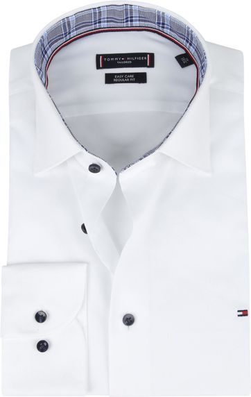 Tommy Hilfiger Klassiek Hemd Wit