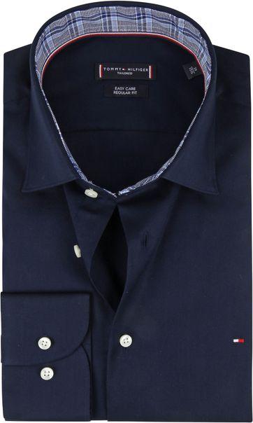 Tommy Hilfiger Klassiek Overhemd Donkerblauw