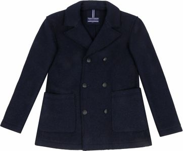 Tommy Hilfiger Knitted Pea Coat Donkerblauw