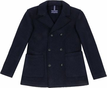Tommy Hilfiger Knitted Pea Coat Navy