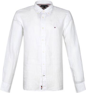 Tommy Hilfiger Leinen Hemd Weiß