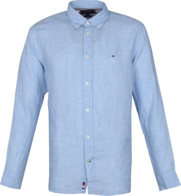Tommy Hilfiger Linen Shirt Light Blue