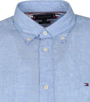 Tommy Hilfiger Linnen Overhemd Lichtblauw