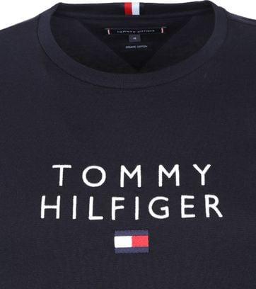 Tommy Hilfiger Logo Flag T-shirt Donkerblauw
