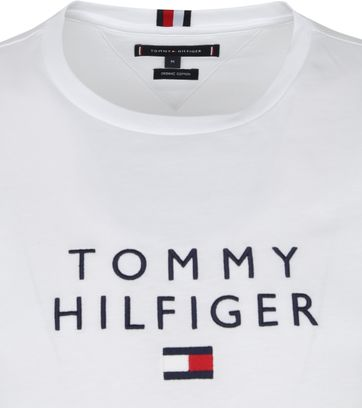 Tommy Hilfiger Logo Flag T Shirt Navy