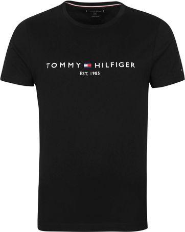 Tommy Hilfiger Logo T Shirt Black