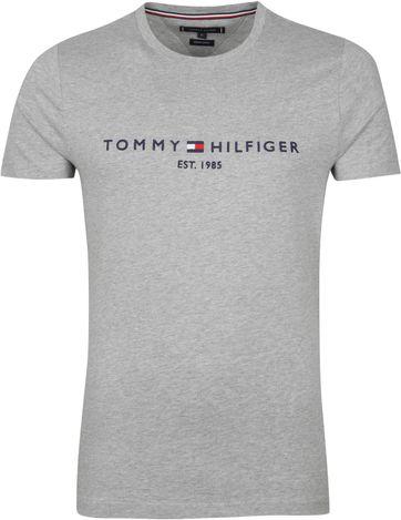 Tommy Hilfiger Logo T-shirt Grijs