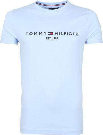 Tommy Hilfiger Logo T-shirt Hell Blau