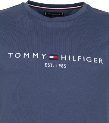 Tommy Hilfiger Logo T-shirt Indigo Blauw
