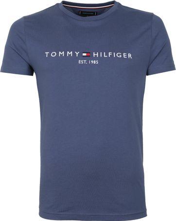 Tommy Hilfiger Logo T Shirt Indigo Blue