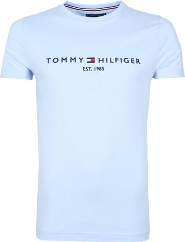 Tommy Hilfiger Logo T Shirt Light Blue