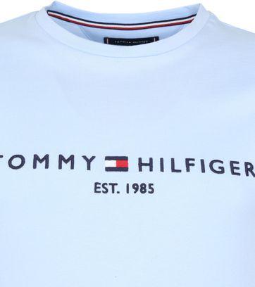 Tommy Hilfiger Logo T Shirt Light Blue
