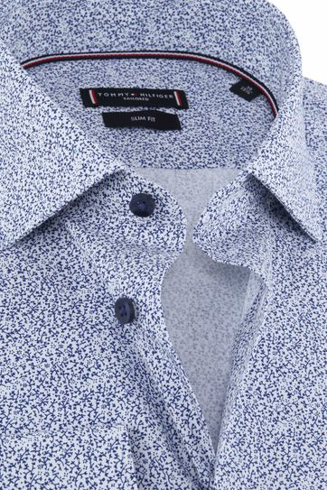 Tommy Hilfiger Overhemd Bloemen Blauw