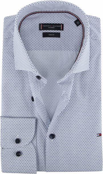 Tommy Hilfiger Overhemd Dessin Blauw
