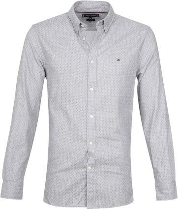 Tommy Hilfiger Overhemd Flannel Dot Grijs