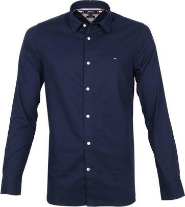 Tommy Hilfiger Overhemd Herringbone Navy