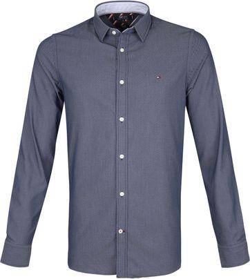 Tommy Hilfiger Overhemd Stippen Navy