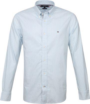 Tommy Hilfiger Overhemd Strepen Blauw Wit