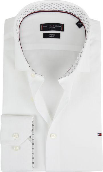 Tommy Hilfiger Overhemd Stretch Wit