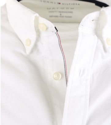 Detail Tommy Hilfiger Overhemd Wit Oxford