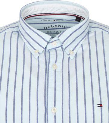 Tommy Hilfiger Oxford Hemd Streifen Hellblau