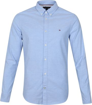 Tommy Hilfiger Oxford Overhemd Lichtblauw