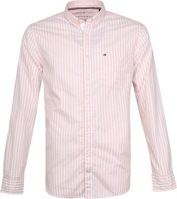 Tommy Hilfiger Oxford Streifen Hemd Pink