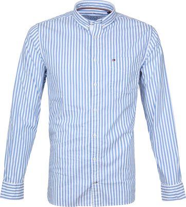 Tommy Hilfiger Oxford Strepen Overhemd Blauw
