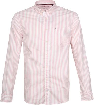Tommy Hilfiger Oxford Strepen Overhemd Roze
