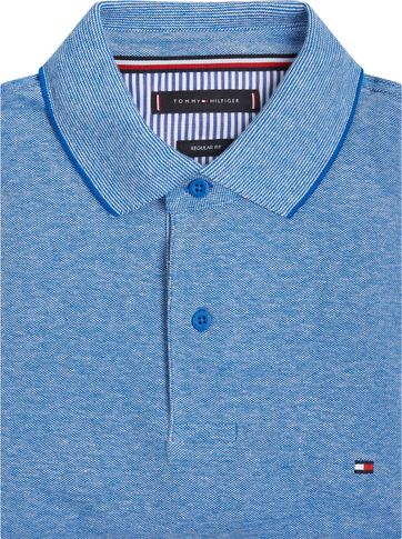 Tommy Hilfiger Plus Polo Oxford Bio Blauw