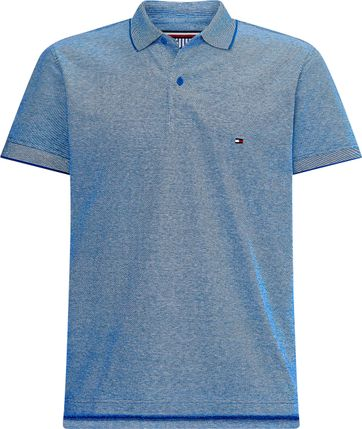 Tommy Hilfiger Plus Polo Shirt Oxford Bio Blau