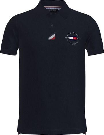 Tommy Hilfiger Plus Polo Shirt Placket Navy