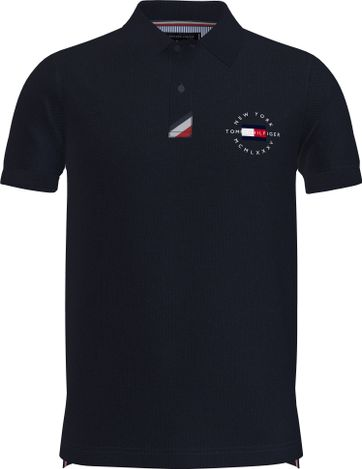 Tommy Hilfiger Plus Poloshirt Placket Navy