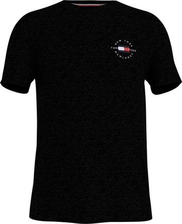 Tommy Hilfiger Plus T Shirt Logo Black