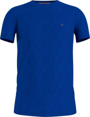 Tommy Hilfiger Plus T-Shirt Stretch Blauw