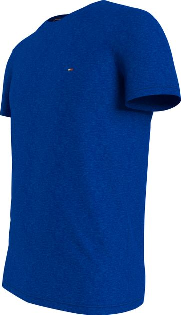 Tommy Hilfiger Plus T-Shirt Stretch Blauw
