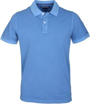 Tommy Hilfiger Polo Blauw Stippen