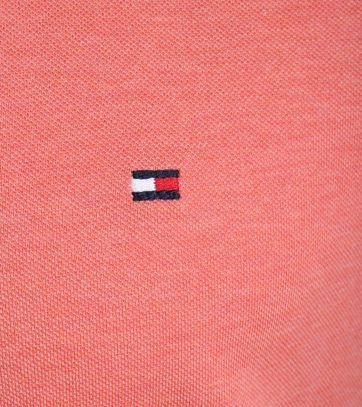 Detail Tommy Hilfiger Polo Coral Red