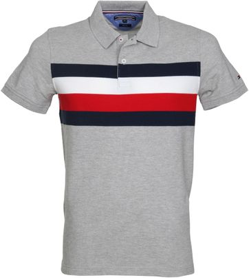 Tommy Hilfiger Polo Grijs Strepen