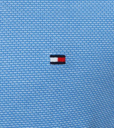 Detail Tommy Hilfiger Polo Jaquard Blauw