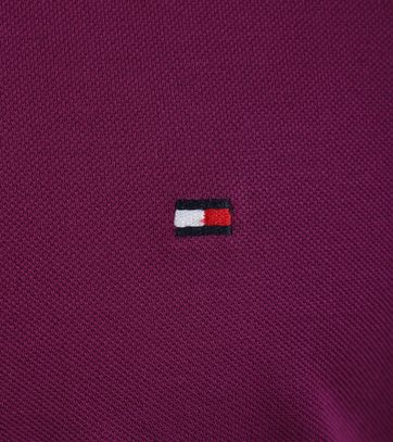 Detail Tommy Hilfiger Polo Paars