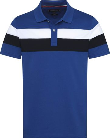 Tommy Hilfiger Polo RF Stripe Mid Blue