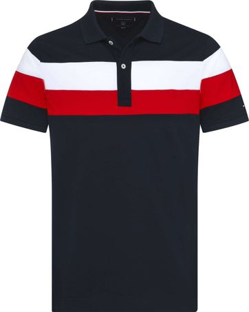 Tommy Hilfiger Polo SF Stripe Navy