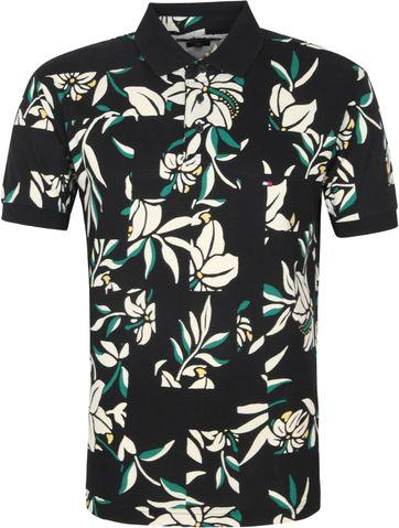 Tommy Hilfiger Polo Shirt Schwarz Blumen