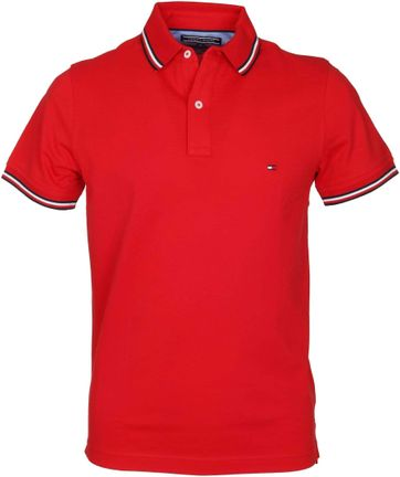 Detail Tommy Hilfiger Polo Uni Rood